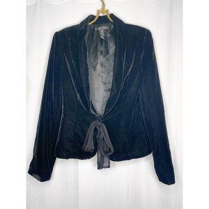 🌸2/30 Black velvet Ann Carson blazer